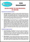 Syncro System suggestions to rack out your van